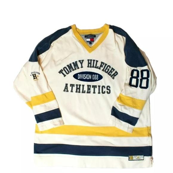 Vintage 90s Tommy Hilfiger Athletics Hockey Jersey